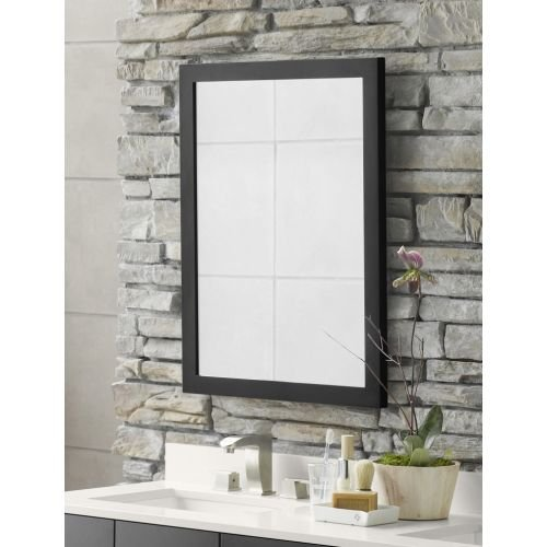 RONBOW 24'' x 31'' Contemporary Solid Wood Frame Rectangle Bathroom Vanity Mirror in Dark Cherry 600124-H01
