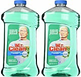 Mr. Clean Meadown Febreze Freshness Meadows & Rain Multi-Surface Cleaner 40 oz (2 Bottles), Pack of 2, Green