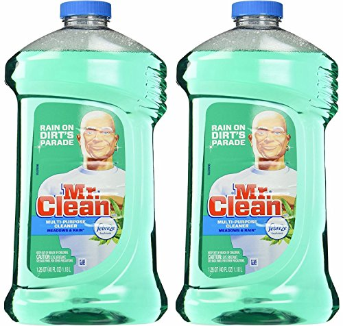 Mr. Clean with Febreze Freshness Meadows & Rain Multi-Surface Cleaner 40 oz (2 Bottles)