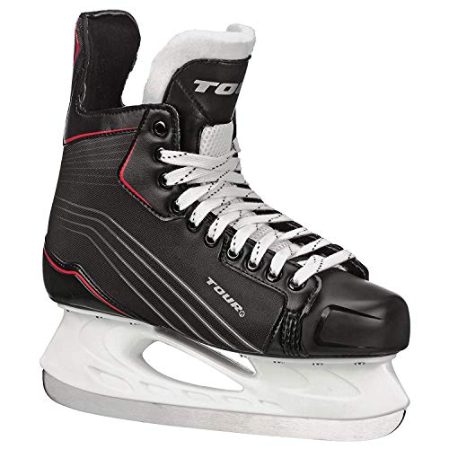 (Tour Hockey Tr-750 Youth Ice Hockey Skate, Black, 3)