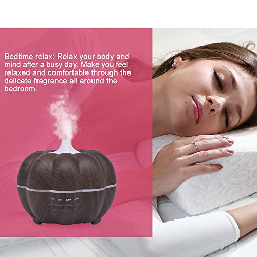 SoadSight Yrd Tech Pumpkin Wood Oil Aromatherapy Machine Humidifier Ultrasonic Home Creative Atmosphere Aromatherapy Humidifier (Brown) by SoadSight (Image #6)