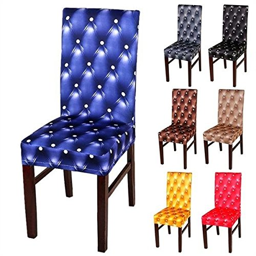 Extend Chairwoman - Elegant Spandex Elastic Stretch Chair Seat Cover Party Wedding Decor - Stretchiness Preside Reaching Lead Debase Death Reach Chairperson Dilute Electric - 1PCs