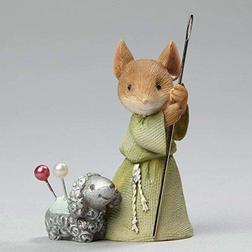"Enesco Department 56 Heart of Christmas ""Shepherd Mouse with Lamb"" Stone Resin Figurine, 1.97"" (Stone Precious Heart)"