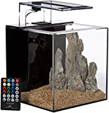 EcoQube C Aquarium - Desktop Betta Fish Tank With UV Sterilizer For Living Office And Home Décor