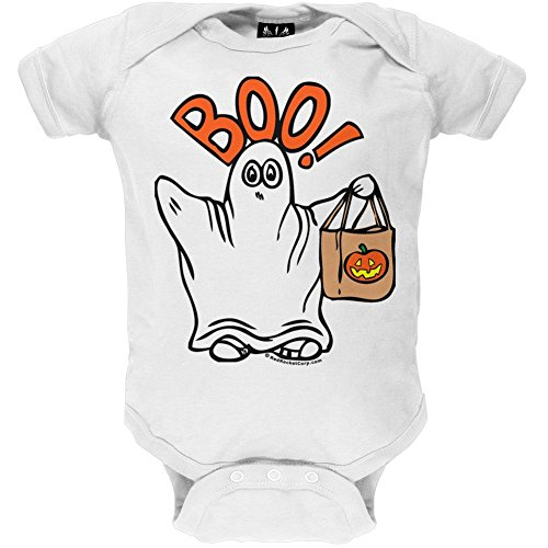 Price comparison product image Old Glory - Unisex-baby Boo Ghost Bodysuit - 12-18 Months White