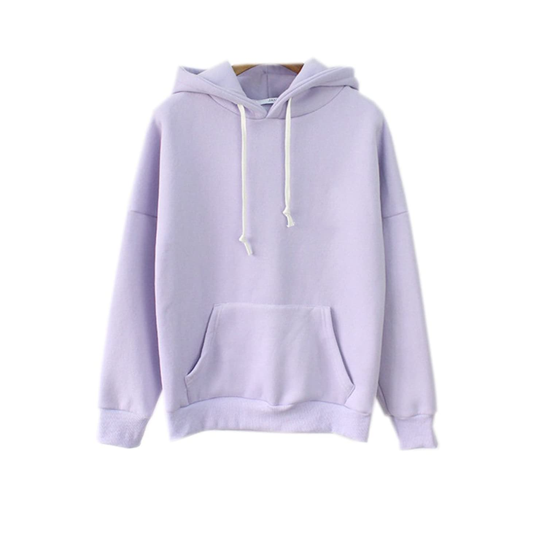 2017 Womens Cute Harajuku Pastel Lavender Hoodies Sweatshirts