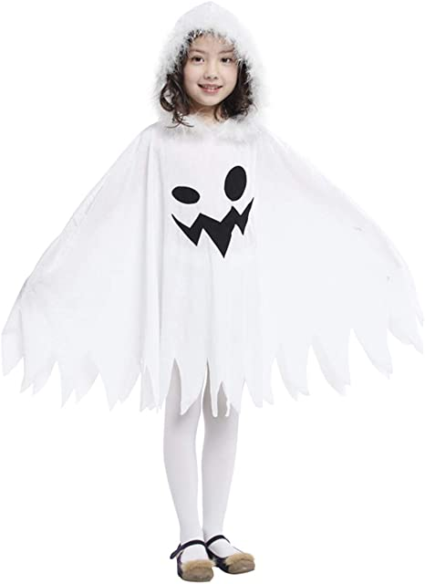 Better-Life Disfraz Witch Girl Cape Hoodie Blanco Fiesta de ...