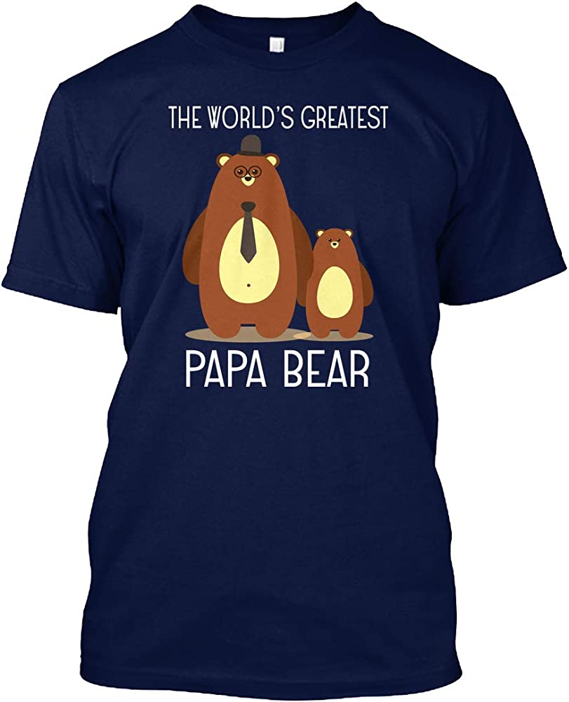 The Worlds Greatest Papa Bear Shirt Tshirt Tagless Tee 4252