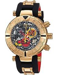 Invicta Mens Disney Limited Edition Quartz Metal and Silicone Casual Watch, Color:Black (Model: 22734)