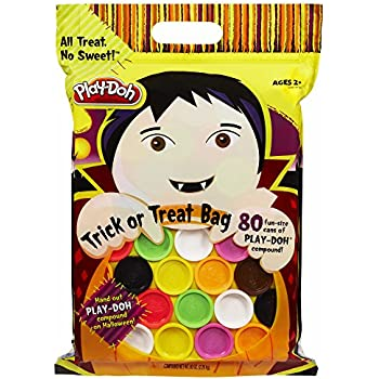 Play-Doh Halloween Trick or Treat Bag, 80 Fun-size cans