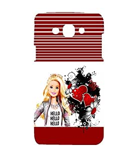 printtech Barbie Girl Heart Back Case Cover for Samsung Galaxy J5 / Samsung Galaxy J5 J500F (2015 EDITION )