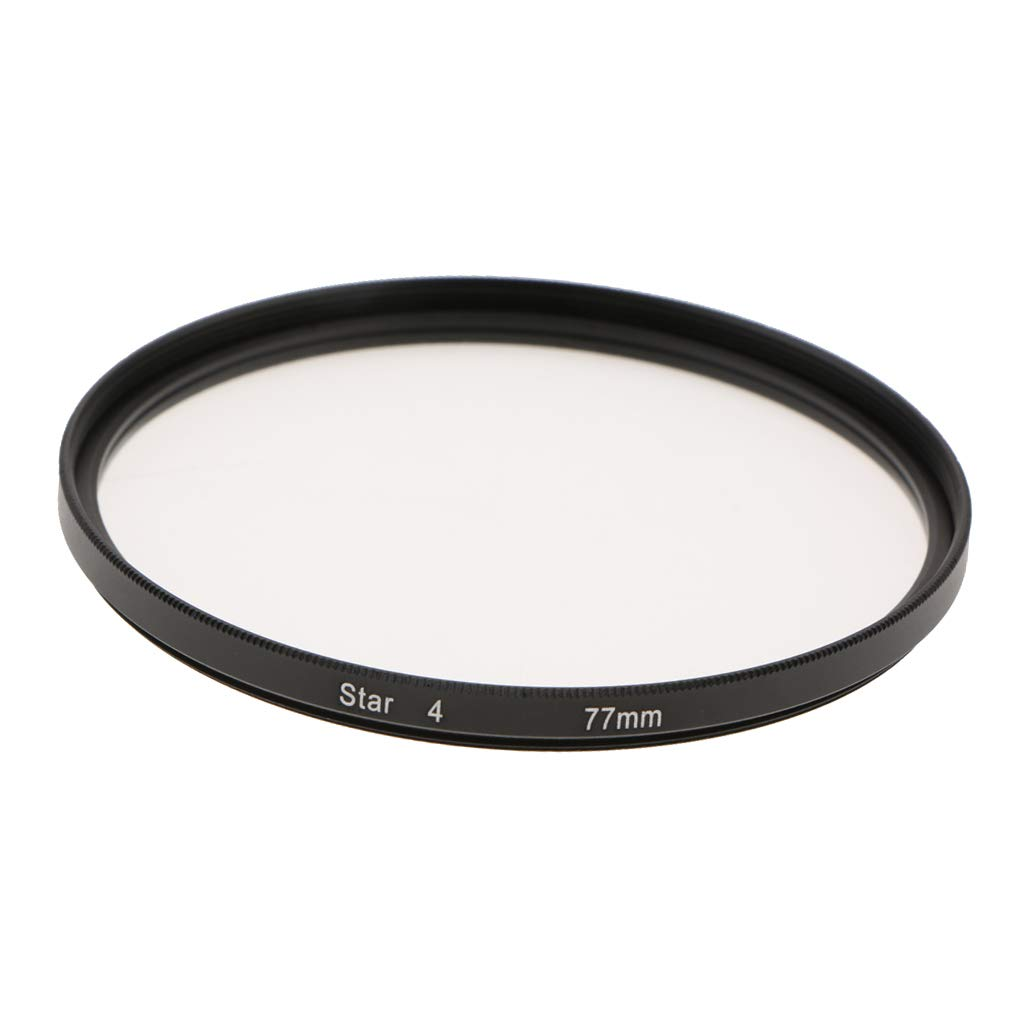 Baosity Optics 77mm 4点星スペシャル効果カメラキャダーズレンズフィルター ブラック   B07GST1KGS
