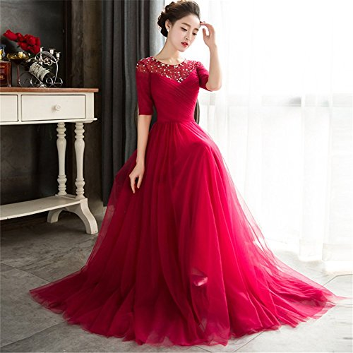 Kleid Kleid Kleid Empire Empire Empire Drasawee Drasawee Drasawee Rot Damen Damen Rot Damen Drasawee Rot OpxqH5wx