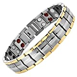 Willis Judd Double Strength 4 Element Titanium Magnetic Therapy Bracelet for Arthritis Pain Relief Size Adjusting Tool and Gift Box Included