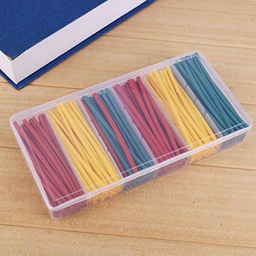 GINZU 180pcs/set Heat Shrink Tubing Insulation Shrinkable Tube Assortment Electronic Wrap Wire Cable Sleeve Kit 100% NEW by GINZU (Image #1)