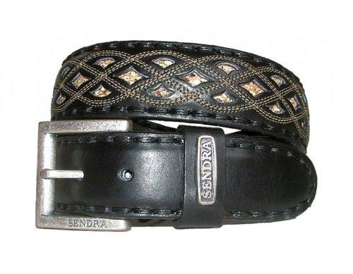 Sendra Gürtel Pythonleder 8680 schwarz
