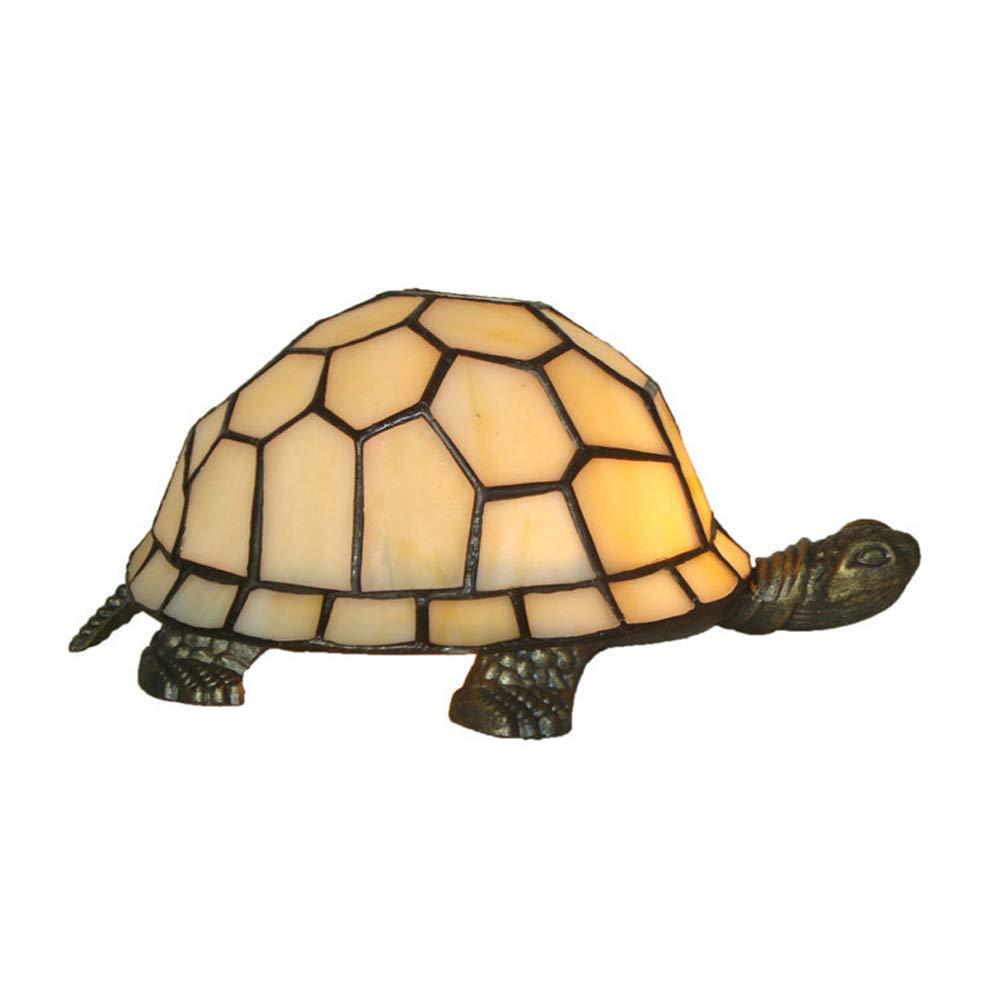Hai Ying ♪ * Europäische Tiffany-Stil Farbwechsel Schildkröte Nachtlicht Einfache Kreative Funkelndes Stück Innenbeleuchtung Wohnzimmer Schlafzimmer Studie Villa Fixture 220 / 240W A +++ ♪
