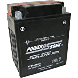 Power-Sonic (PTX14AH-BS) Sealed Maintenance Free Powersport Battery