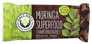 Kuli Kuli - Moringa Superfood Bar Dark Chocolate - 1.6 oz (pack of 2)