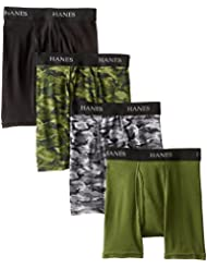 Hanes Ultimate Boys` Dyed Boxer Brief with Comfort Flex Waistband, BU740C, M