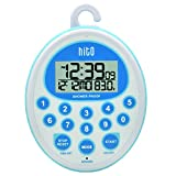 hito Splash-Proof Shower Clock Timer with Date