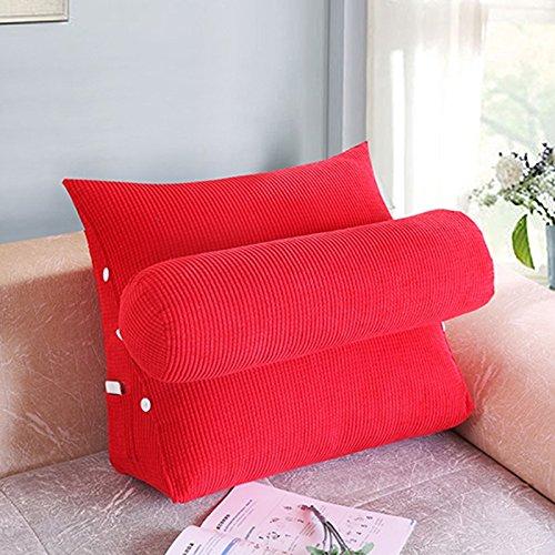 D L Dossier De Chevet Bed oreiller bureau coussin canapé coussin grand lit oreiller taille coussin dossier de coussin triangulaire (Couleur   D, taille   L)