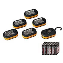 EverBrite 6-Pack 3AAA 27 LED Compact Work Light Magnetic w/Hook Batteries Included