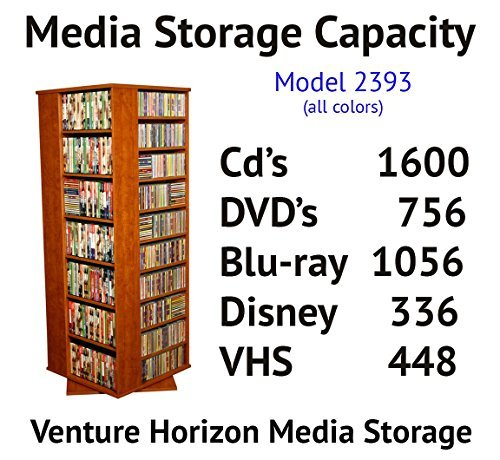 Venture Horizon Revolving Media Tower Grande 1600 Black by Venture Horizon