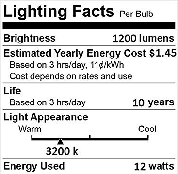 LED Light Bulbs Dusk to Dawn Sensor Lights Bulb Smart Lighting Lamp 12W 1200LM E26/E27 Socket 3200k Auto On/Off Indoor Outdoor Security Light for Porch, Garage, Driveway, Yard, Patio (Warm White) by Vgogfly (Image #2)