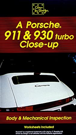 A Porsche 911/930 Closeup (inspection) [VHS]