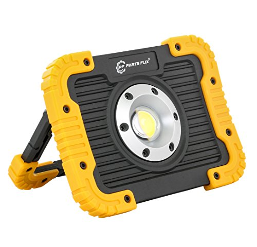 Parts Flix Ultra Bright Spotlight Rechargeable Portable LED Work Light,Outdoor Waterproof Flood Lights ()