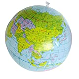 Potato001 Inflatable World Globe Earth Map Geography Teacher Aid Ball Toy Gift 40cm/16''