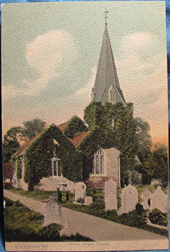 Collectible Old / Vintage Postcard with The Chuch at Stoke Poges (St. Giles Church), Bunkhamshire, UK