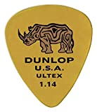 Dunlop 433P114 1.14mm Ultex Sharp Guitar Picks, 6-Pack