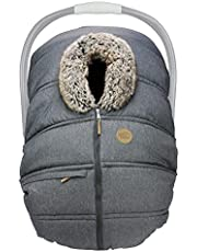 petit coulou baby car seat winter cover anthracite/wolf