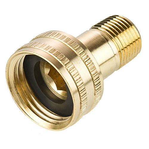 Parker 88GH-12-6 Garden Hose Fitting, Swivel Female Garden Hose to Male Pipe, Brass, Hose Thread and Male Pipe Swivel Connector, 3/4