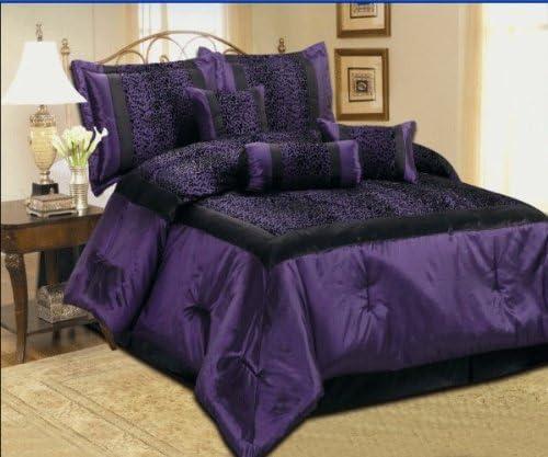 Amazon Com 7 Pcs Faux Silk Safari Leopard Printing Comforter Set