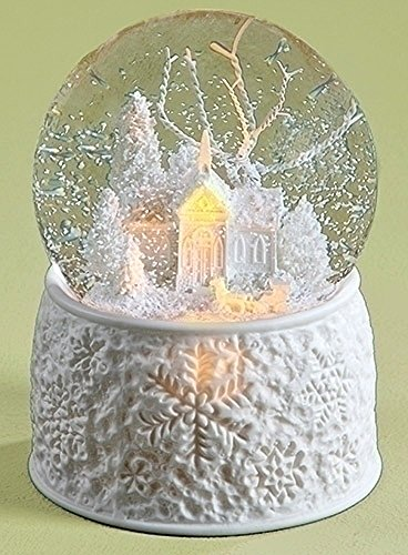kensington row christmas collection snow globes white christmas snow globe lighted musical snowglobe - Large Christmas Snow Globes
