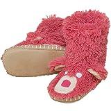 Hatley Girls 2-6x Pink Bear Kids Slouch Slipper, Just Kissed, M(8-10)