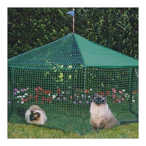 Image of Kittywalk Gazebo Yard and Garden Outdoor Cat Enclosure Green Pet Supplies