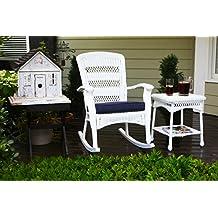 tortuga portside plantation rocking chair in white