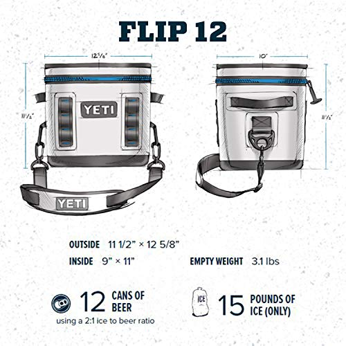 YETI COOLERS YETI30 B Hopper Flip12 Gry Cooler