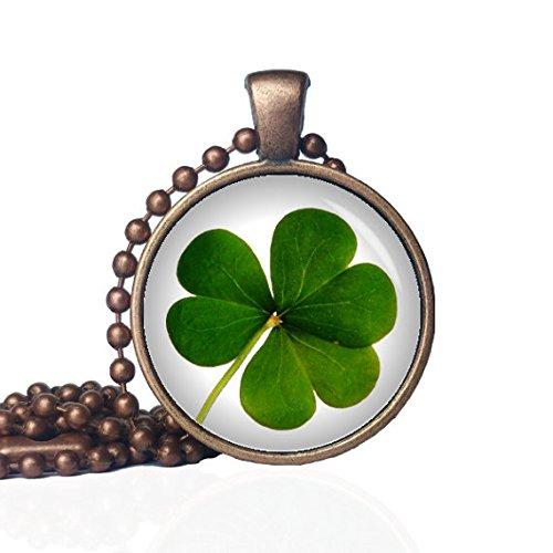 (Clover Necklace - Lucky Clover Necklace - St. Patty's Day Necklace - Three Leaf Clover Necklace - Saint Patrick Clover -Irish Lucky Necklace)