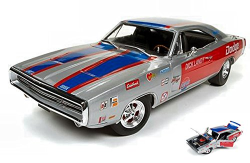DODGE CHARGER R T 1970 DICK LANDRY 1 18 - Auto World - Auto Stradali - Die Cast - Modellino