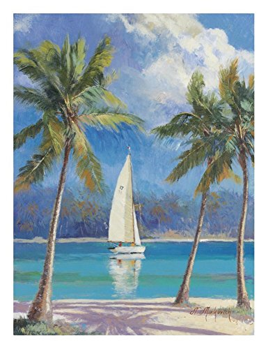 Global Gallery N. Mirkovich Island Breeze-Giclee on Paper Print-Unframed-24 x 18 in Image Size, 24