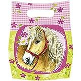Partner Jouet - DYB551263 - Décoration de fête - Accessoire de table - 6 Sacs Bonbons Horses