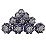 Decorative Cabinet Drawer Knobs Door Cupboard Black Pullar Drawer Ceramic Knobs