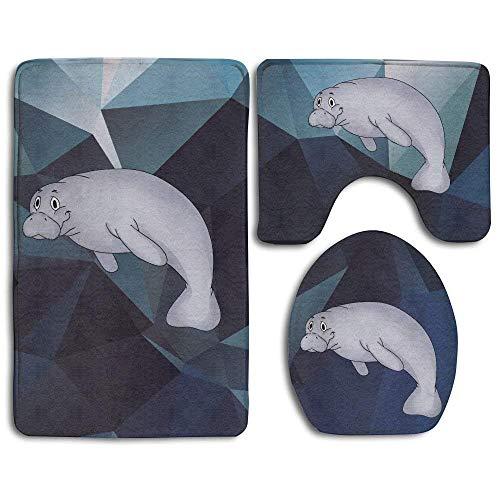(BeautyToiletLidCoverABC This is My Manatee Sea Mammal Ocean Animal Skidproof Toilet Seat Cover Bath Mat Lid Cover)