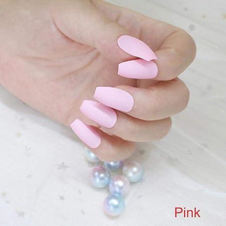 Julymoda - 24 puntas de uñas postizas de acrílico para decoración ...
