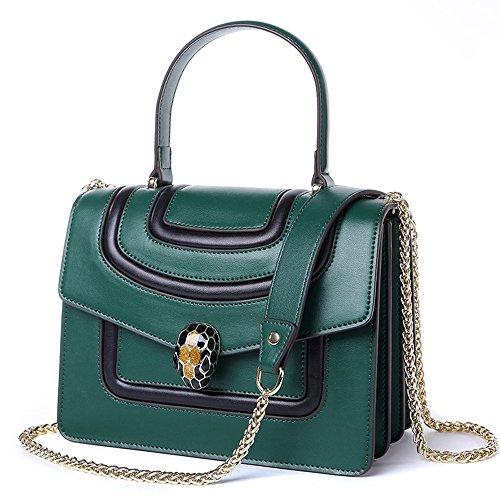 MIMI Cuir Strap Lock Sac Green Épaule Les KING Mode Main Individuality En Véritable Chain Sacs Bandoulière À Femmes À Pour aqwaUrvp